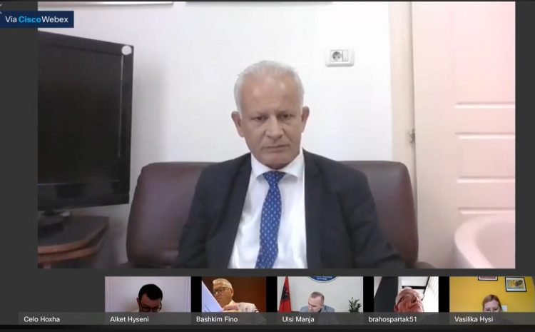 Drejtori i ISKK, Çelo Hoxha, raporton në Komisionin e Ligjeve
