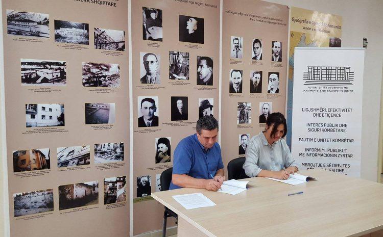 Marrëveshje bashkëpunimi midis ISKK dhe Autoritetit për Informimin mbi Dokumentet e ish Sigurimit të Shtetit